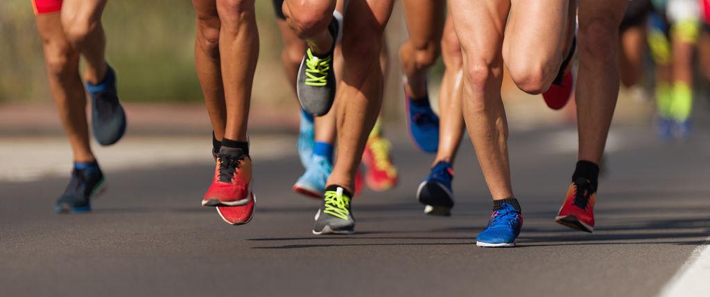 legs of people running
