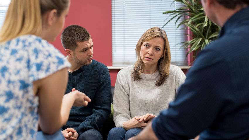young adult in therapy