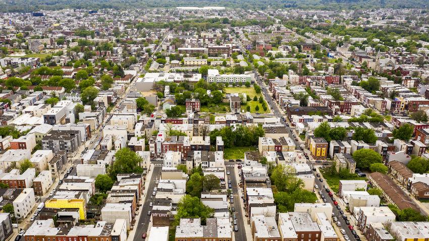 overhead view of north philadelphia