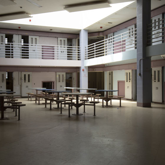 empty common area in correctional facility